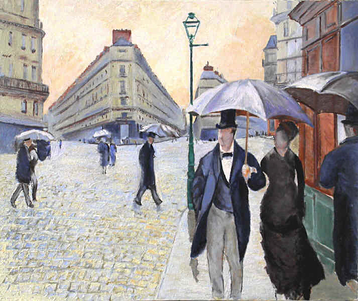 paris a rainy day essay Gustave callebotte, paris street rainy day, the world essaygustave callebotte was the first impressionist that painted realistic, photo paintings callebotte was born in 1848, he was a french painter that was really influenced by impressionism.