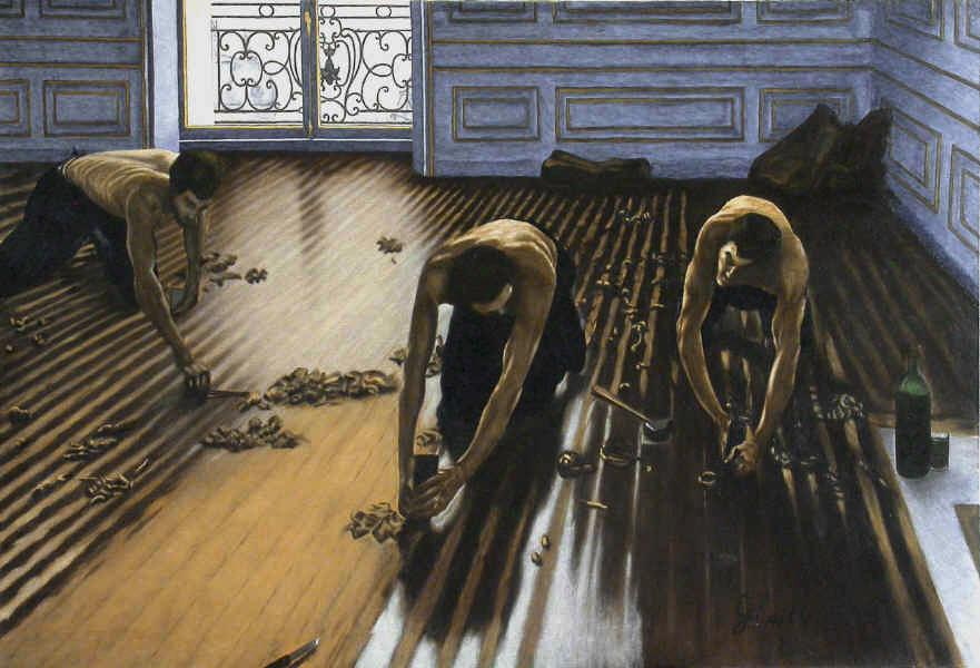 Pin Les Raboteurs De Parquet Gustave Caillebotte 60p On